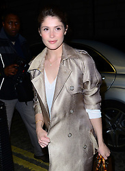 Gemma Arterton attends 'The Director: An Evolution In Three Acts' UK film premiere, a documentary about Frida Giannini, who joined the house of Gucci as Head of Women's Accessories in 2004 at Curzon Mayfair, London, United Kingdom. Tuesday, 8th April 2014. Picture by Nils Jorgensen / i-Images