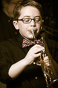 Liam Conner on trumpet performing with String Theory at The Bus Stop Music Cafe in Pitman, NJ.