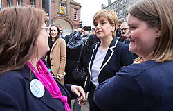 The First Minister, Nicola Sturgeon, campaigning in Leith by campaigning that the SNP will be a voice for young people.<br /> <br /> <br /> Pictured: Nicola Sturgeon