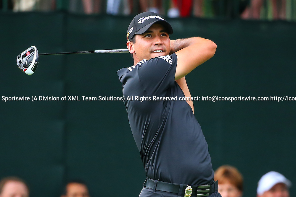 30 JUL 2016:  Jason Day of Austrailia tees off at the 1st hole of the final round of the 98th PGA Championship played at Baltusrol Golf Club in Springfield,NJ.(Photo by Rich Graessle/Icon Sportswire)