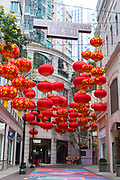 Paper lanterns in Lee Tung Avenue, Hong Kong.