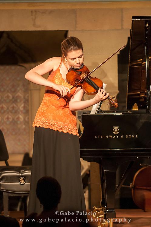 Caramoor Virtuosi perform in the Spanish Courtyard at Caramoor in Katonah New York.photo by Gabe Palacio