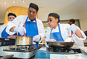 Students from Westside High School participate in  the Cooking for Change challenge at Rice University, April 12, 2014.