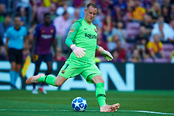 September 18, 2018 - Barcelona, Barcelona, Spain - Ter Stegen of FC Barcelona in action during the UEFA Champions League group B match between FC Barcelona and PSV Eindhoven at Camp Nou on September 18, 2018 in Barcelona, Spain  (Credit Image: © Sergio Lopez/NurPhoto/ZUMA Press)