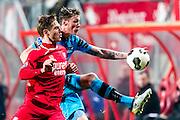 ENSCHEDE - 17-12-2016, FC Twente - AZ, Grolsch Velst Stadion, FC Twente speler Joachim Andersen, AZ speler Wout Weghorst (r)