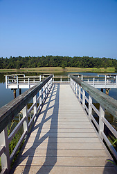 Fishing pier / dock on the Star Fort Pond, Ninety Six National Historical Site, Ninety-Six, South Carolina.