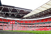 Wembley Stadium ready for during the Challenge Cup Final 2016 match between Warrington Wolves and Hull FC at Wembley Stadium, London, England on 27 August 2016. Photo by Craig Galloway.