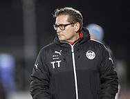 FODBOLD: Cheftræner Thomas Thomasberg (Hobro IK) under kampen i ALKA Superligaen mellem FC Helsingør og Hobro IK den 17. november 2017 på Helsingør Stadion. Foto: Claus Birch