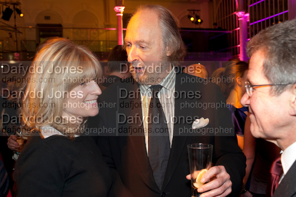 RACHEL JOHNSON; ED VICTOR; LORD BROWNE, Orion Authors' Party,  Royal Opera House, Covent Garden, London. 15 February 2011. <br /> -DO NOT ARCHIVE-© Copyright Photograph by Dafydd Jones. 248 Clapham Rd. London SW9 0PZ. Tel 0207 820 0771. www.dafjones.com.