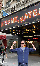 """Hugh Jackman releases a photo on Twitter with the following caption: """"""""Don't miss #KissMeKate on Broadway. It's incredible. Huge contracts to  @kelliohara,  #WillChase and, the entire cast and crew. With a special cheers to my dear friend and choreographer @carlylewarren. Mate, you've done it again."""""""". Photo Credit: Twitter *** No USA Distribution *** For Editorial Use Only *** Not to be Published in Books or Photo Books ***  Please note: Fees charged by the agency are for the agency's services only, and do not, nor are they intended to, convey to the user any ownership of Copyright or License in the material. The agency does not claim any ownership including but not limited to Copyright or License in the attached material. By publishing this material you expressly agree to indemnify and to hold the agency and its directors, shareholders and employees harmless from any loss, claims, damages, demands, expenses (including legal fees), or any causes of action or allegation against the agency arising out of or connected in any way with publication of the material."""