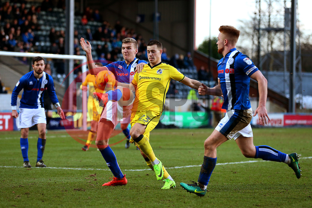 Billy Bodin of Bristol Rovers and Mark Kitching of Rochdale - Mandatory by-line: Matt McNulty/JMP - 04/02/2017 - FOOTBALL - Crown Oil Arena - Rochdale, England - Rochdale v Bristol Rovers - Sky Bet League One