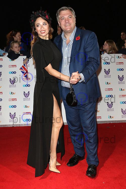 Katya Jones, Ed Balls, Pride of Britain Awards, The Grosvenor House Hotel, London UK, 31 October 2016, Photo by Richard Goldschmidt