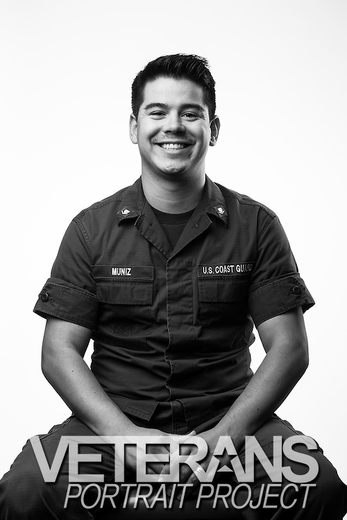 Trey Muniz<br /> Active Duty Coast Guard<br /> E-4<br /> Machinery Technician<br /> Apr. 2006 - Present<br /> <br /> Coast Guard base located in Charleston, SC, on Sept. 4, 2013. For the Veterans Portrait Project.