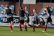Ryan McGregror celebrates after scoring Baldragon's opening goal -  Baldragon v St.John's in the U14 Urquhart Trophy Final (sponsored by DSA) at Dens Park, Dundee<br /> <br /> <br />  - &copy; David Young - www.davidyoungphoto.co.uk - email: davidyoungphoto@gmail.com