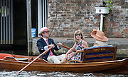 "Henley on Thames. United Kingdom.     Former Regatta Press officer, George LAWSON with his skiff ""Moth"". Sunday,  03/07/2016,      2016 Henley Royal Regatta, Henley Reach.   [Mandatory Credit Peter Spurrier/Intersport Images]"