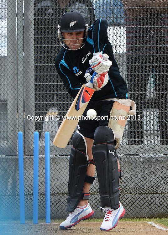 Captain Brendon McCullum. New Zealand Cricket Training at Eden Park Outer Oval, Auckland, New Zealand on Friday 8 February 2013. Photo: Andrew Cornaga/Photosport.co.nz