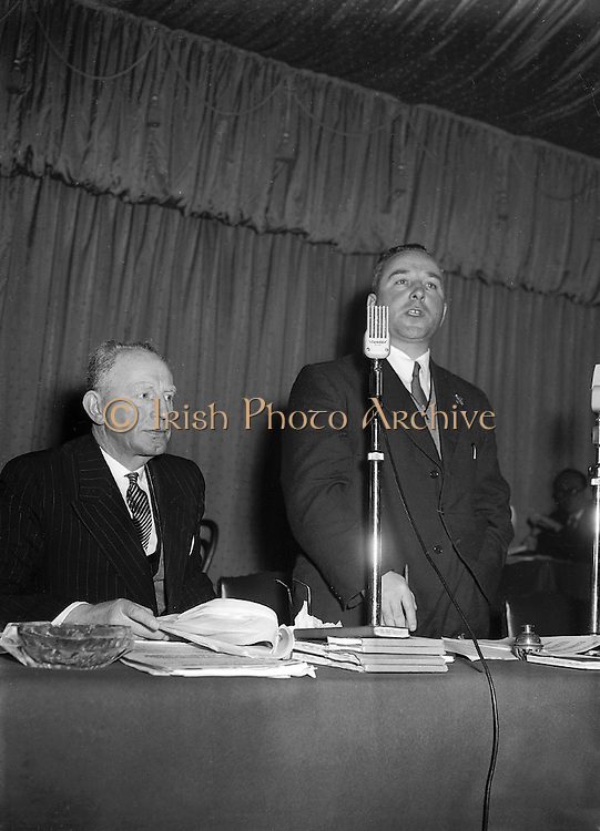 Annual Congress at Gresham Hotel in Dublin..01.04.1956  1st April 1956  GAA Annual Congress at Gresham Hotel, Dublin on 1st April 1956.