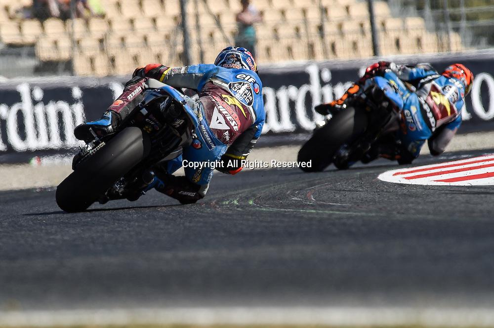 03.06.2016. Circuit de Barcelona, Barcelona,Spain. Grand Prix Monster Energy de Catalunya. Practice day. Jack Miller and Tito Rabat (Marc VDS)during the free practice sessions.