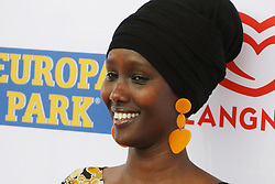 12.04.2019, Europa Park, Rust, GER, Radio Regenbogen Award 2019, im Bild Gut gelaunt: Sonderpreis 2018, Fatuma Musa Afrah (Laudator: Christian Wulff) // during the Radio Rainbow Award at the Europa Park in Rust, Germany on 2019/04/12. EXPA Pictures © 2019, PhotoCredit: EXPA/ Eibner-Pressefoto/ Joachim Hahne<br /> <br /> *****ATTENTION - OUT of GER*****