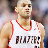 02 December 2013: Portland Trail Blazers small forward Nicolas Batum (88) rests during the Portland Trail Blazers 106-102 victory over the Indiana Pacers at the Moda Center, Portland, Oregon, USA.