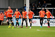Southend United players celebrate after 1st goal during the EFL Sky Bet League 1 match between Peterborough United and Southend United at London Road, Peterborough, England on 3 February 2018. Picture by Nigel Cole.