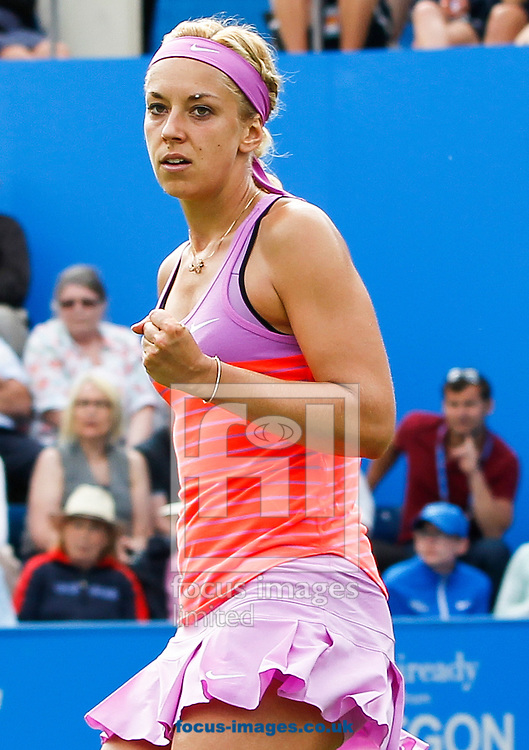 Sabine Lisicki (GER) during her third round match against Magdalena Rybarikova (SVK) at the Aegon Classic at Edgbaston Priory Club, Birmingham<br /> Picture by Mike Griffiths/Focus Images Ltd +44 7766 223933<br /> 18/06/2015