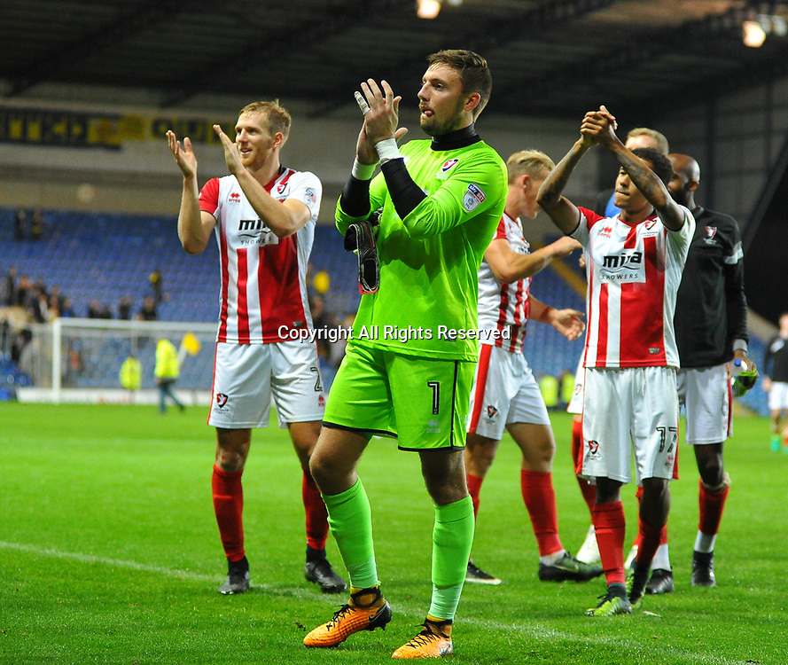 August 8th 2017, Kassam Stadium, Oxford, England; Carabao Cup First Round; Oxford United versus Cheltenham; Cheltenham team applaud their fans after the final whistle