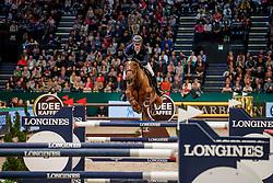 TWOMEY Billy (IRL), Kimba Flamenco<br /> Leipzig - Partner Pferd 2020<br /> Longines FEI Jumping World Cup™ presented by Sparkasse<br /> Sparkassen Cup - Großer Preis von Leipzig FEI Jumping World Cup™ Wertungsprüfung <br /> Springprüfung mit Stechen, international<br /> Höhe: 1.55 m<br /> 19. Januar 2020<br /> © www.sportfotos-lafrentz.de/Stefan Lafrentz