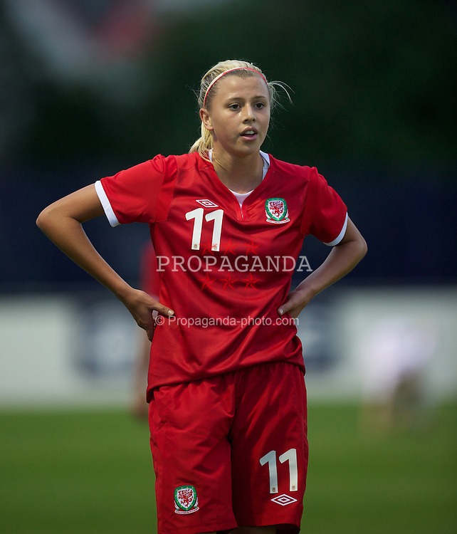BROUGHTON, WALES - Friday, September 9, 2011: Wales' Ellie Leek (Bristol Academy) in action against Denmark during an international friendly women's Under-17 match at the Airfield. (Pic by David Rawcliffe/Propaganda)