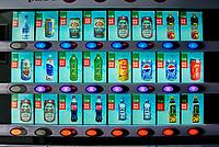 Beijing , China - September 23, 2014: chinese sodas vending machine