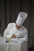 Thomas Keller tasting fish at the Bocuse d'Or..Owen Franken for the NY Times..January 27, 2009