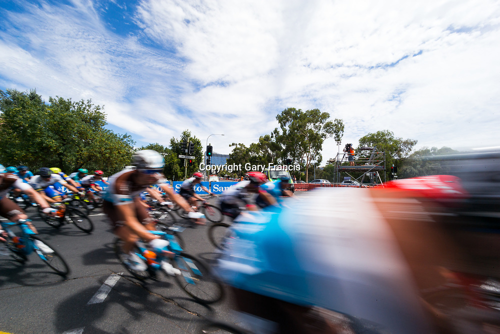 Peloton blur in Stage 6, Adelaide City Circuit, of the Tour Down Under, Australia on the 21 of January 2018 ( Credit Image: © Gary Francis / ZUMA WIRE SERVICE )