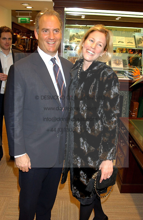 CHARLES &amp; SYDNEY FINCH at a party hosted by the Gussalli Beretta family to celebrate the opening of the new Beretta store, 36 St.James's Street, London SW1 on 10th January 2006.<br />