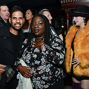 Harmesh Gharu and Abena attend BBC1 All Together Now Series 1 Cast Members, fright night at The London Bridge Experience & London Tombs on 28 October 2018, London, UK.