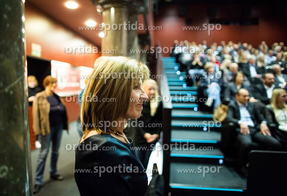 Mima Jausovec at premiere of documentary movie Mima about Slovenian tennis player Mima Jausovec, on November 9, 2015 in Kinoteka, Ljubljana, Slovenia. Photo by Vid Ponikvar / Sportida