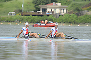 Chungju, South Korea. NED LM2X B Finals winners, bow  Vincent MUDA and Tycho MUDA. 2013 FISA World Rowing Championships, Tangeum Lake International Regatta Course.13:53:45  Saturday  31/08/2013 [Mandatory Credit. Peter Spurrier/Intersport Images]