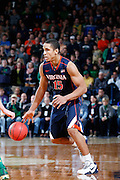 SOUTH BEND, IN - JANUARY 10: Malcolm Brogdon #15 of the Virginia Cavaliers handles the ball against the Notre Dame Fighting Irish during the game at Purcell Pavilion on January 10, 2015 in South Bend, Indiana. Virginia defeated Notre Dame 62-56. (Photo by Joe Robbins)