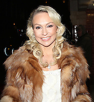 LONDON - DECEMBER 13: Kristina Rihanoff attended the English National Ballet Christmas Party at St Martins Lane Hotel, London, UK. December 13, 2012. (Photo by Richard Goldschmidt)