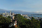 Kerry Park, Space Needle, Elliot Bay, Skyline, Sunrise, Sunset, Capitol Hill, Queen Anne, Seattle Hotels, Seattle, Washington