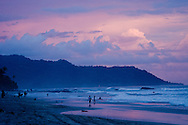 On one of the most popular surf beaches in St. Teresa Montezuma, Costa Rica, the sunset is almost always magical.