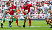 Twickenham, Surrey, World Cup, Sunday, 11.08.19, Wale, Ken OWENS, playing in the Warm up match, Quilter International, England vs Wales, at the RFU Stadium  [© Peter SPURRIER/Intersport Image]<br /> <br /> 14:04:27