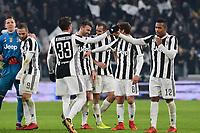 23.12.2017 - Torino - Serie A 2017/18 - 18a giornata  -  Juventus-Roma nella  foto: l'esultanza dei giocatori della Juventus a fine partita