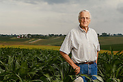 Farmer Orval Brenneman. Photographed by editorial photographer Nathan Lindstrom