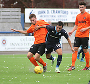 Dundee's Dylan Carreiro goes past Dundee United's Scott Smith - Dundee v Dundee United under 20s<br /> <br />  - &copy; David Young - www.davidyoungphoto.co.uk - email: davidyoungphoto@gmail.com