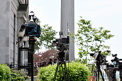 Cameras are lined up outside Montgomery County Court House, in Norristown, Pennsylvania ahead of the May 24th, 2016 court appearance of actor and comedian Bill Cosby for the preliminary hearing in the sexual assault case agains him.