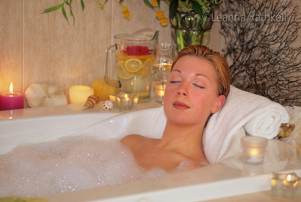 Spa bubble bath   Leanna Rathkelly, Photographer in Victoria, BC