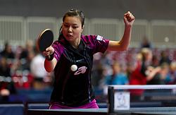 12.02.2011, Westfalenhalle Dortmund, GER, Tischtennis, German Open, im Bild Jiaduo Wu (GER), EXPA Pictures © 2011, PhotoCredit: EXPA/ A. Neis