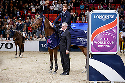 Eckermann, Henrik von (SWE);<br /> Roche, John (FEI Jumping Director) Mary Lou<br /> Göteborg - Gothenburg Horse Show FEI World Cups 2017<br /> © Stefan Lafrentz