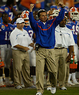 MORNING JOURNAL/DAVID RICHARD.Florida head coach Urban Meyer during the BCS National Championship game vs. Ohio State.