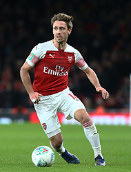 December 19, 2018 - London, England, United Kingdom - London, UK, 19 December, 2018.Nacho Monreal  of Arsenal .during Carabao Cup Quarter - Final between Arsenal and Tottenham Hotspur  at Emirates stadium , London, England on 19 Dec 2018. (Credit Image: © Action Foto Sport/NurPhoto via ZUMA Press)